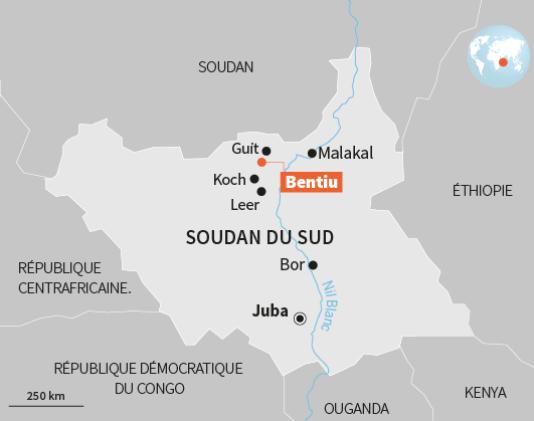 Le Soudan du Sud.