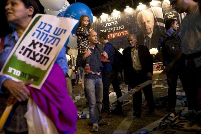 Sur la place Rabin à Tel-Aviv, le 31 octobre.