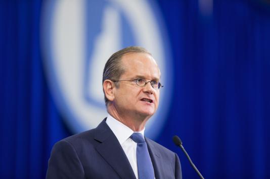 Lawrence Lessig à la convention démocrate du New Hampshire le 19 septembre.