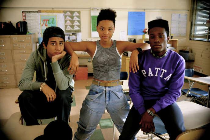 Blake Anderson, Zoë Kravitz et Shameik Moore dans le film américain de Rick Famuyiwa,