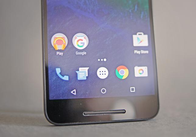 Les applications par défaut du Nexus 6P.