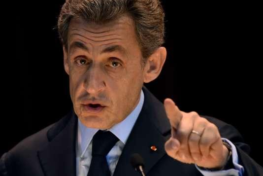 Nicolas Sarkozy à Moscou, en Russie, le 29 octobre 2015.