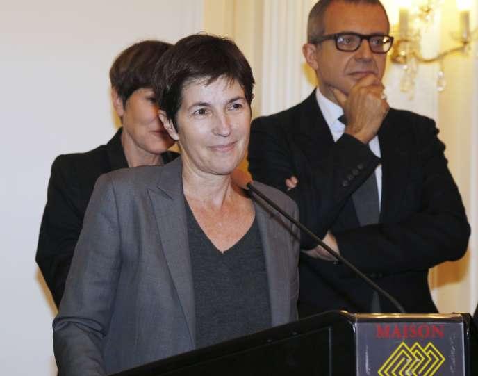L'écrivaine Christine Angot, le 2 novembre 2015 à Paris.