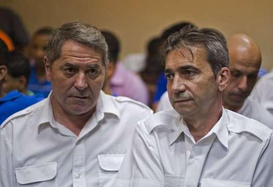 Pascal Fauret et Bruno Odos en République dominicaine le 3 février 2014.