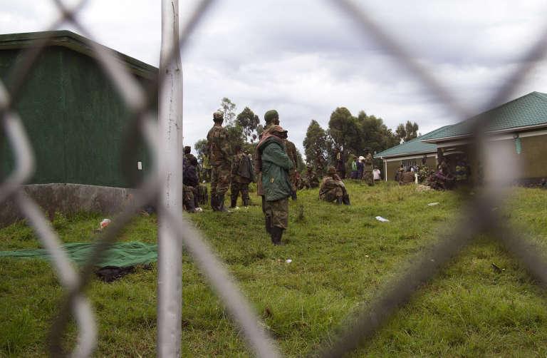 D'anciens rebelles du M23 dans un camp de l'armée ougandaise à Rugwerero, en novembre 2013.