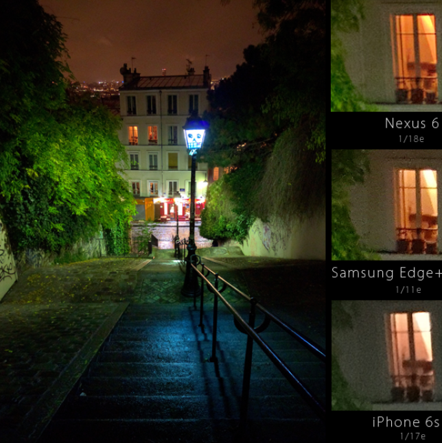 Photo de nuit avec le Nexus 6P.