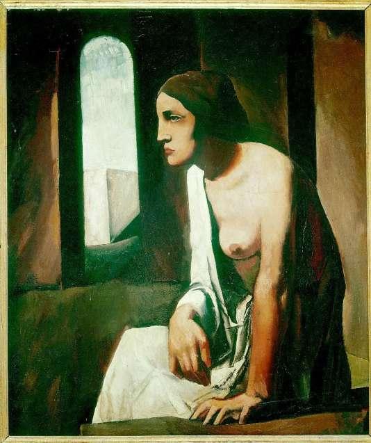 """Détail du tableau """"Solitude"""" (1925) de Mario Sironi. Galerie nationale d'art moderne, Rome."""