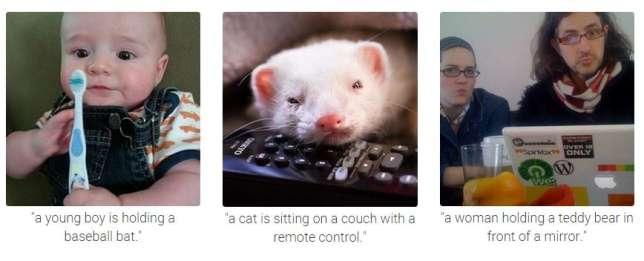 Le programme se trompe parfois dans les descriptions des images...