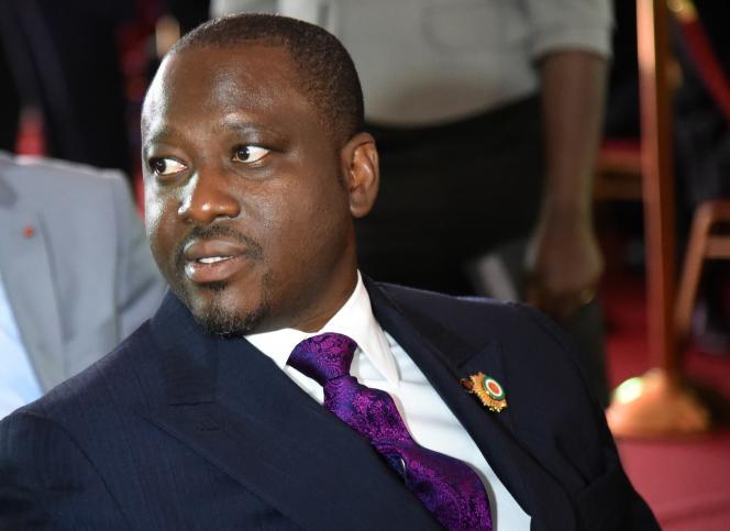 Le président de l'Assemblée nationale de Côte d'Ivoire, Guillaume Soro, à Abidjan le3novembre.