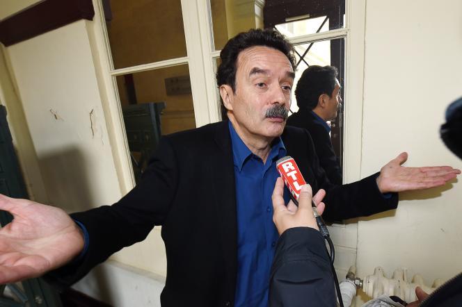 Le patron de Mediapart Edwy Plenel, au tribunal de Bordeaux le 3 novembre, à l'occasion du procès  d'un volet de l'affaire Bettencourt.