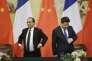 Le président français François Hollande et son homologue chinois à Pékin, le 2 novembre.