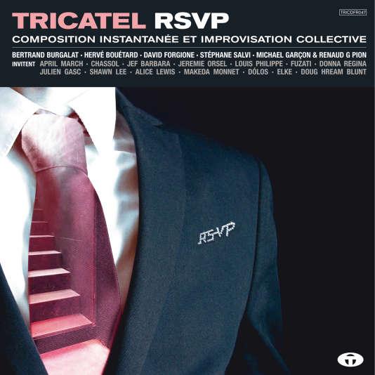 Pochette de l'album « Tricatel RSVP », recueil de onze chansons et instrumentaux par divers artistes.