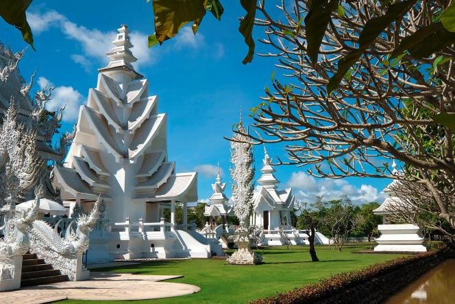 Wat Rong Khun de Chiang Rai, en Thaïlande.