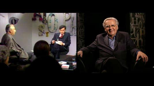 Bernard Pivot, animateur de nos soirées du vendredi. Derrière, lors de l'émission avec Roland Barthes.