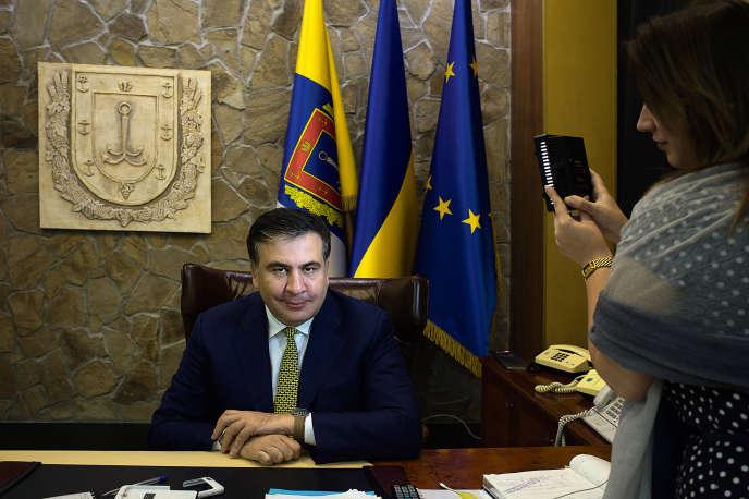 Mikheil Saakachvili le 14 octobre dans son bureau à Odessa.