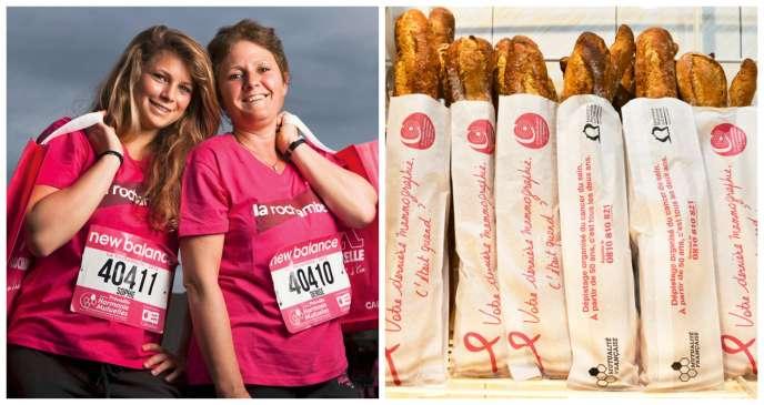 Des baguettes siglées, des sportifs en brassard rose : difficile d'échapper à la déferlante marketing d'« Octobre rose ».