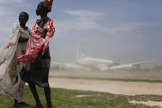 Sur l'aéroport de Leer (Sud Soudan), en juillet 2014.