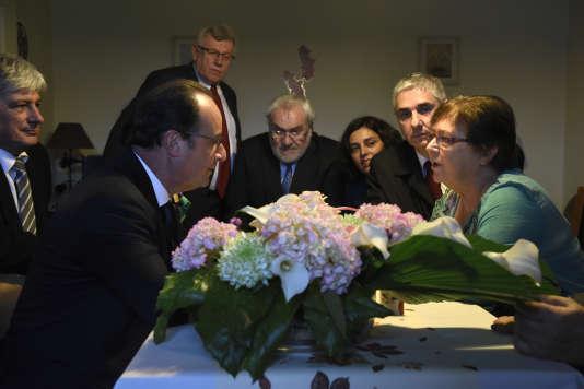 François Hollande en visite à Vandoeuvre-lès-Nancy, 29 octobre 2015.