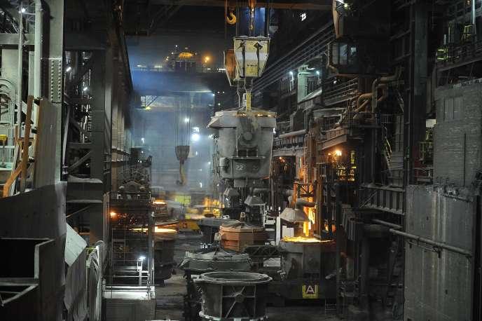 Une halle dans le complexe sidérurgique de Redcar en Angleterre en mai 2012.