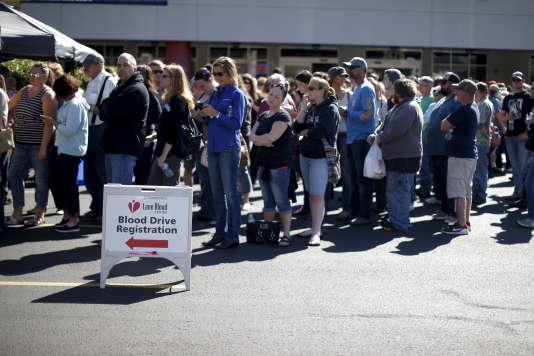 Don du sang aux Etats-Unis, le 2 octobre.