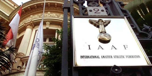 Le siège de l'Association internationale des fédérations d'athlétismeI,à Monaco, en1999.