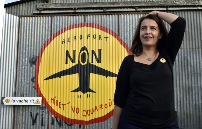 La députée de Paris, Cécile Duflot, à Notre-Dames-des-Landes, le 4 novembre 2015.