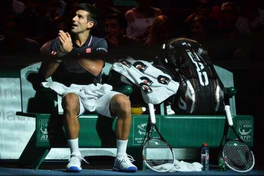 Novak Djokovic, le 1er novembre 2014, à Bercy.