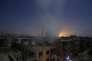 Après un bombardement sur le quartier de Douma, dans l'est de Damas le 30 octobre.