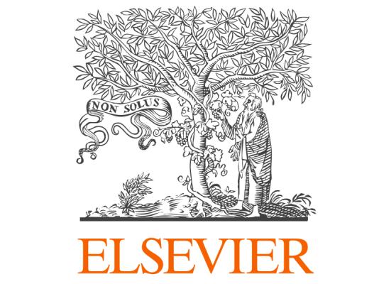 Le logo de l'éditeur scientifique Elsevier.