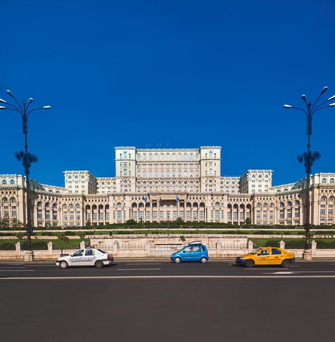 Le Parlement roumain à Bucarest.