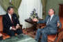 Reagan et Gorbatchev, juillet 1985.