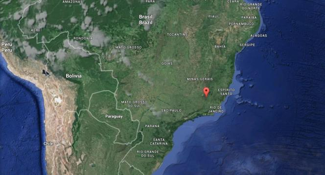 La ville de Mariana, dans l'Etat brésilien de Minas Gerais, où une importante coulée de boue s'est produite le 5 novembre.