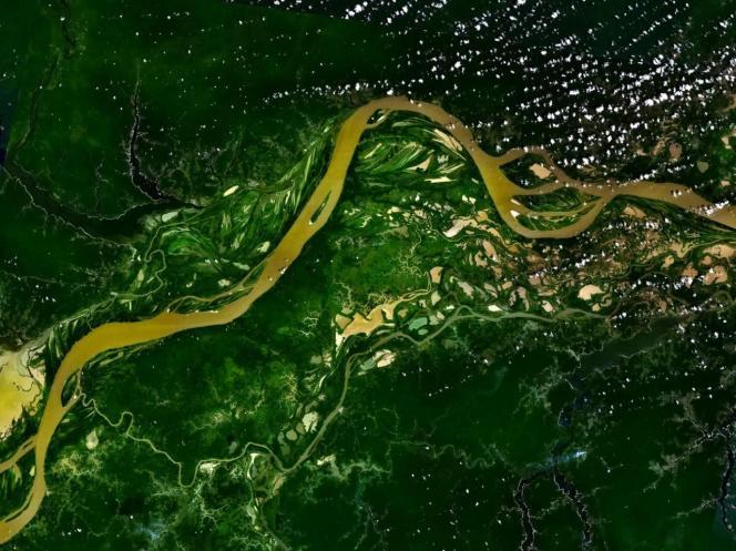 L'Amazone vue de l'espace.