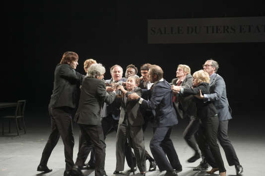 Une scène de «Ça ira (1) Fin de Louis», de Joël Pommerat au Théâtre des Amandiers à Nanterre.
