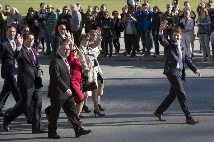 Justin Trudeau présente au public son gouvernement, mercredi 4novembre, à Ottawa.