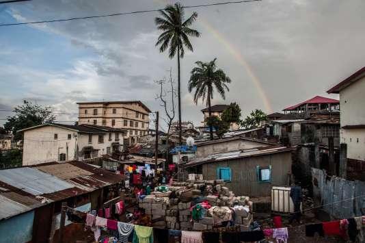 A East Freetown, ancien épicentre du virus d'Ebola de Sierra Leone.