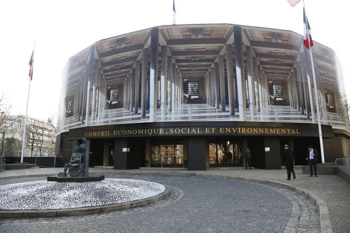 Le siège du Conseil économique, sociale et environnemental, à Paris, en février 2015.