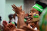 Des militants du Parti de la solidarité et du développement de l'union (USDP), le 5 novembre.