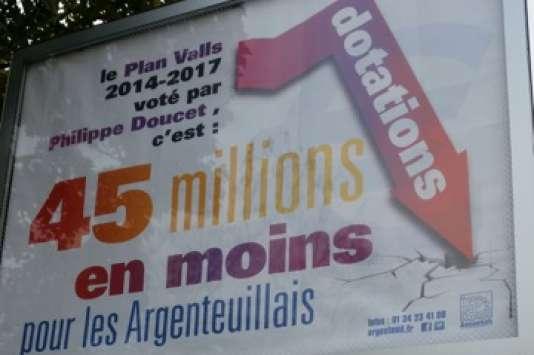 Une des affiches placardées par la municipalité d'Argenteuil (Val d'Oise).
