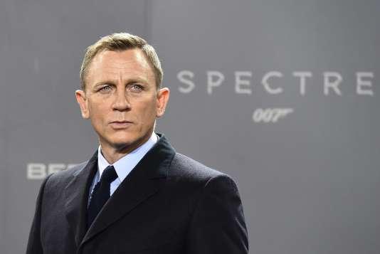 "L'acteur Daniel Craig lors de la projection du film ""007 Spectre"" à Berlin, le 28 octobre 2015."