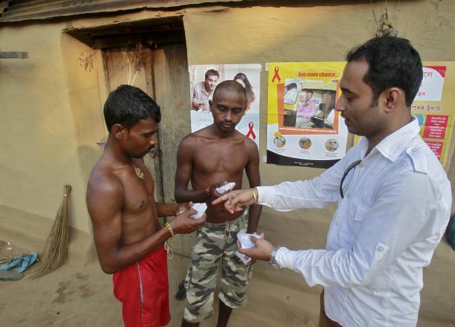 Prévention dans un village en Inde.
