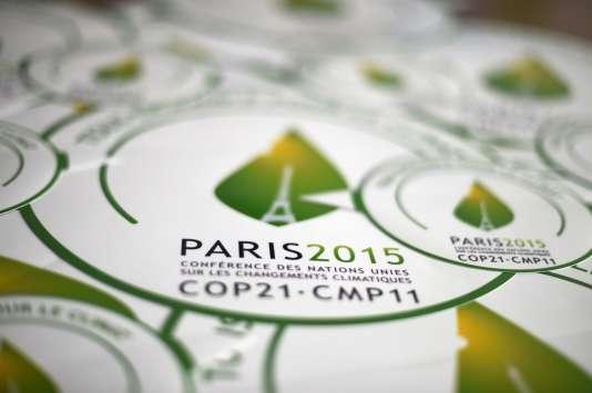 Sur le site du Bourget (Seine-Saint-Denis) où doit se tenir la Conférence des Nations unies pour le climat