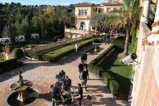 Un tournage au château Diter, en plein cœur de Grasse, en 2013.
