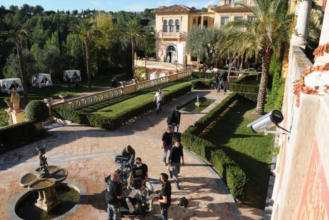 Lors du tournage d'une production américaine au château Diter, en novembre 2012.