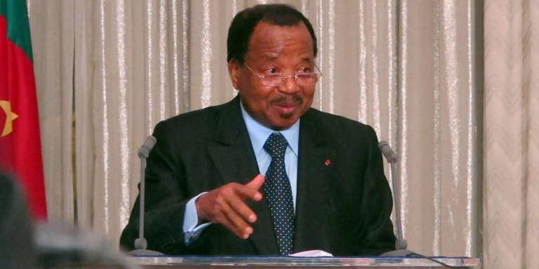 Le président camerounais Paul Biya à Yaoundé, en avril 2013.