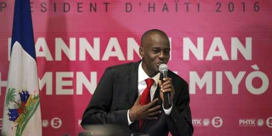 Le nouveau président haïtien, Jovenel Moïse, en 2015.