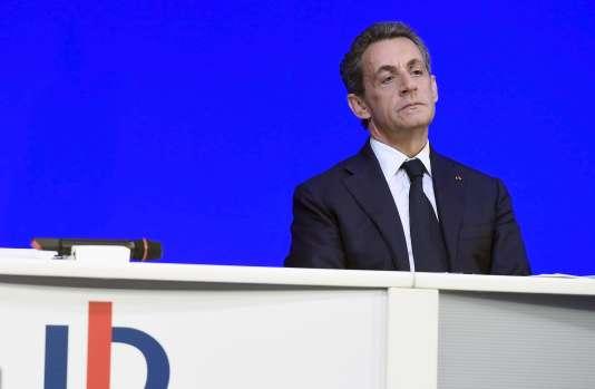 Nicolas Sarkozy, président des Républicains (LR) lors du Conseil national du parti à Paris le 7 novembre.