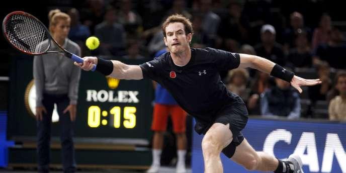 Andy Murray lors de sa demi-finale à Bercy, samedi 7 novembre, face à David Ferrer.
