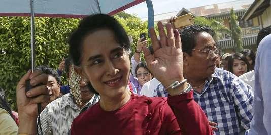Le parti d'Aung San Suu Kyi devrait remporter les élections en Birmanie.