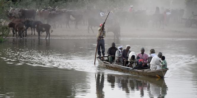 Sur le lac Tchad, à la frontière entre Niger, Nigeria, Cameroun et Tchad, le30mars2015.